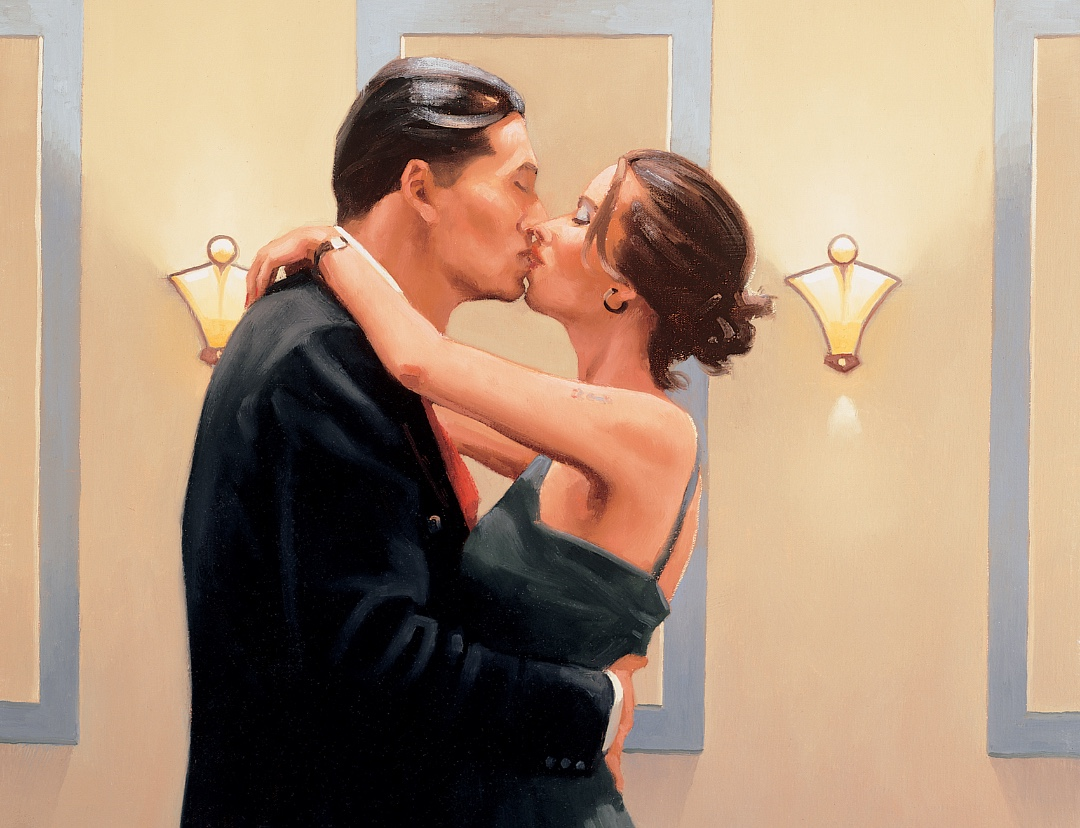 Jack Vettriano - Betrayal – First Kiss image