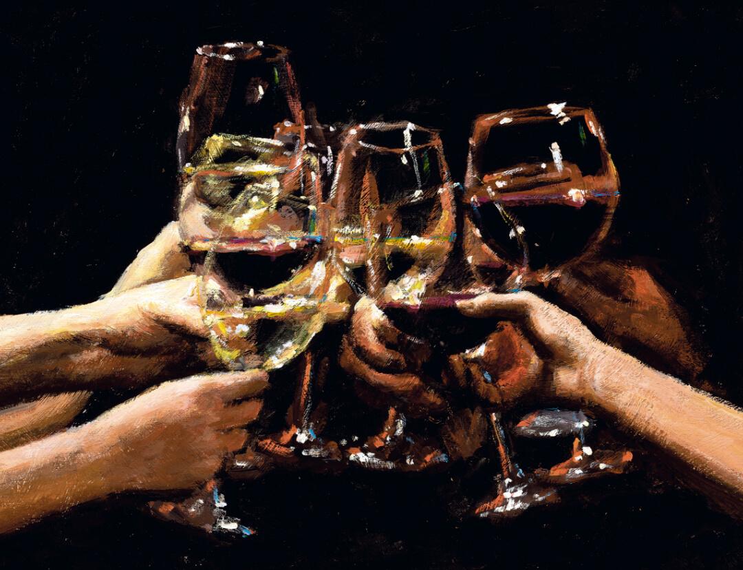 Fabian Perez - Raises a glass to the future image